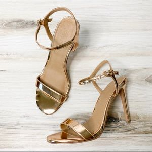 Asos Hands Down Barely There Rose Gold Heel Sandal